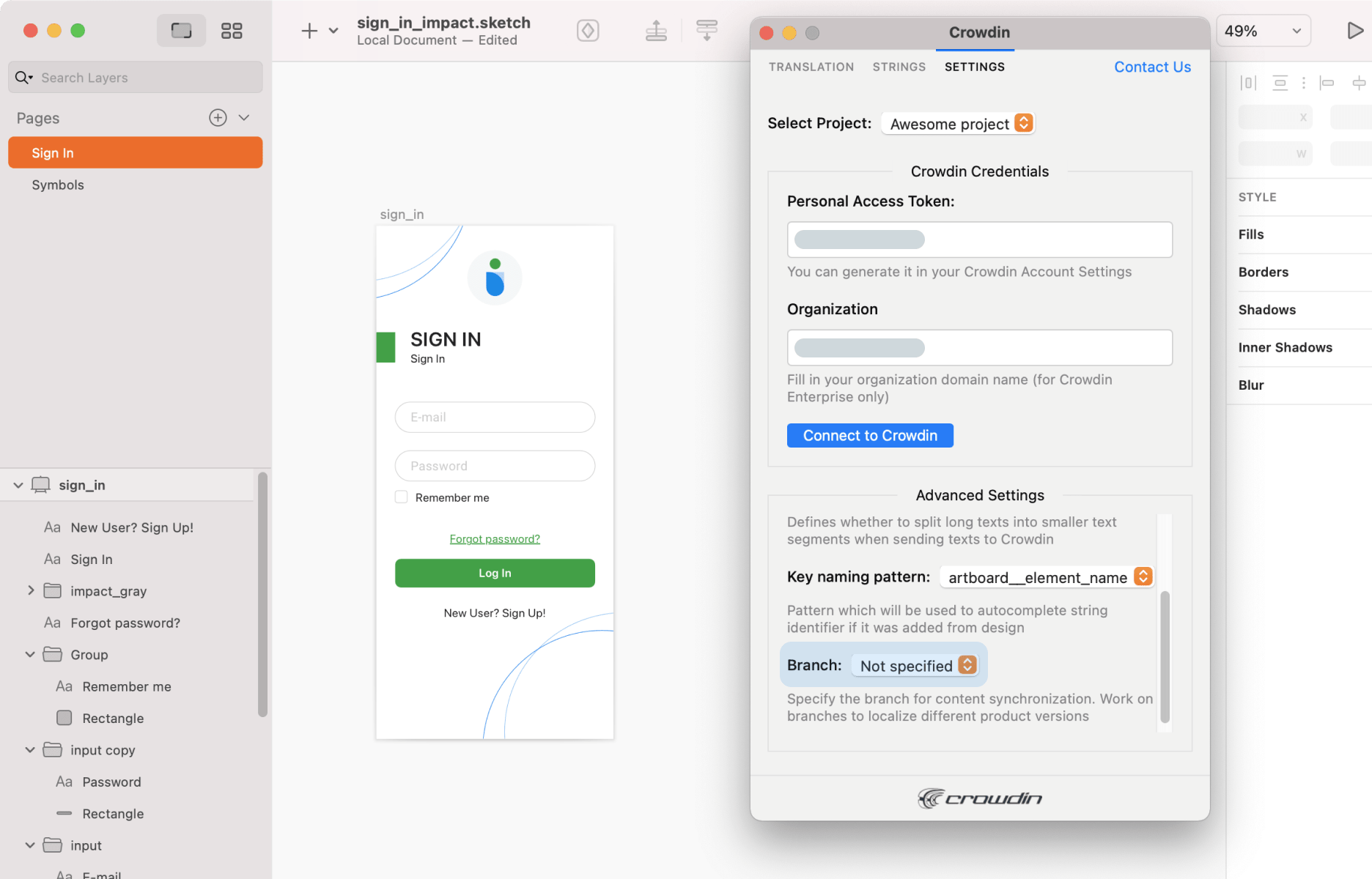 Crowdin Plugin for Sketch